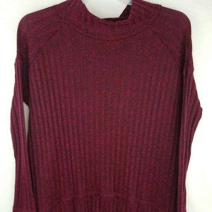 Free People Womens Sweater Wine Red Large L